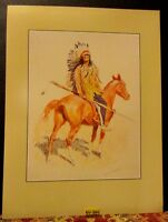 Vintage REMINGTON Print ~THE SIOUX CHIEF~ on Horse Rockwell Museum Print 1988