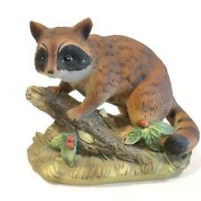 Homco Masterpiece Porcelain Racoon Figurine