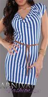 WOMENS SHORT SLEEVE TOP BLOUSE 6 8 10 12 LADIES CASUAL LONG SHIRT XS S M L belt