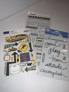 Set Of 3 Marathon Scrapbook Stickers
