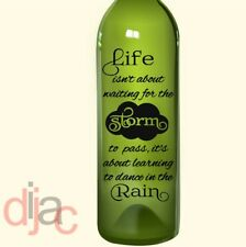 VINYL DECAL DANCE IN THE RAIN for WINE BOTTLE, CANDLE, LANTERN 17.5 X 8 cm