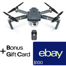 DJI Mavic Pro Folding Drone  + 1 Extra Battery + $100 eBay Gift Card!