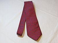 """Lauren Ralph Lauren Tie red blue neck tie 59"""" Silk necktie Mens menswear EUC"""
