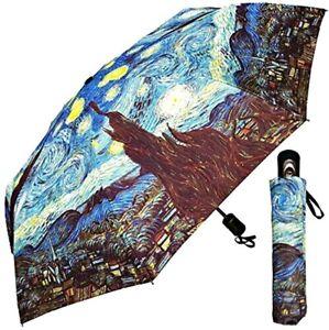 "Umbrella - Fine Art Design ""Starry Night"" by Van Gogh - 42"" - With Matching Case"