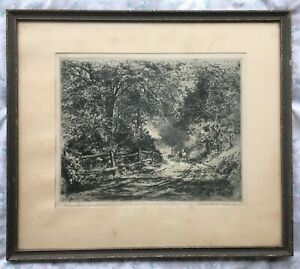 1912 GIFT FROM THE ARTIST GUSTAVE ADOLPH HOFFMAN PEN & INK PERSONALIZED ARTWORK