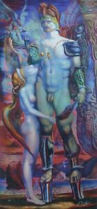 ERNST FUCHS 1930-2015 Perseus and the nymph HAND SIGNED 2012 AUSTRIAN ARTIST