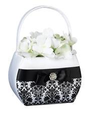 Black Damask Flower Basket Wedding