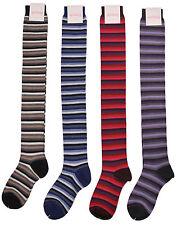 Pantherella Women's Striped Merino Thigh High Socks 4-pair British Couture Pack