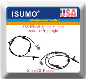 2 x ABS Wheel Speed Sensor Rear Left / Right Fits Nissan Murano 2009-2012 W/ AWD