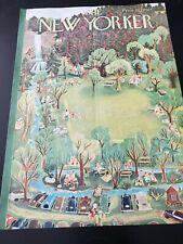 New Yorker COVER ONLY June 27, 1953 ILONKA KARASZ Summer Park Picnic Waterfall