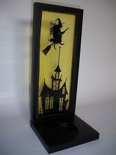 Halloween Witch and Haunted House Candle Shadow Caster, Vintage and Rare