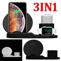3 in1 Wireless Charger Stand for iPhone X 8 Apple Watch Airpods Charging Station