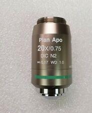 NIKON PLAN APO 20X/.75 1.0 WD MICROSCOPE OBJECTIVE DIC N2