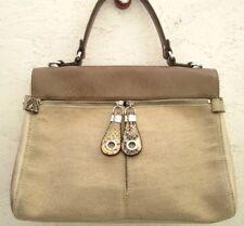 AUTHENTIQUE sac à main KESSLORD cuir et tissu bag