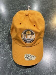 2010 '47 Twins US OPEN Tennis J.P. MORGAN Yellow Strapback Hat *BRAND NEW*