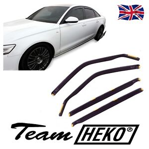 HEKO TINTED WIND DEFLECTORS for AUDI A6 C7  SALOON 2011-up 4pc