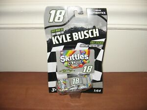 2020 Kyle Busch #18 Skittles Zombie With Sticker 1:64 Nascar Authentics Wave 3