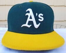 Oakland Athletics New Era fitted cap sz 7 1/4 Conroy A's hat MLB