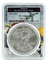 2012 (w) Struck At West Point Silver Eagle PCGS MS70 - West Point Frame