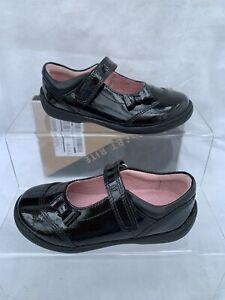 Startrite Twizzle Black Patent Girls School Shoes Size 3F