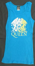 Queen Rare Dragonfly Women's M Tank Top White/Yellow on Blue Shirt Day at Races