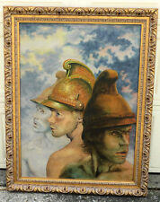 GIANT Hyperrealsim Oil Painting Semi Nude Roman Soldiers Handsome Men ROMNEY Boy