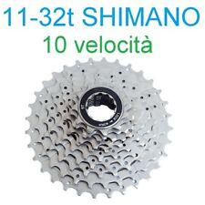 cassetta pacco pignoni bici corsa 11-32t shimano ruota libera 10 velocità 10v
