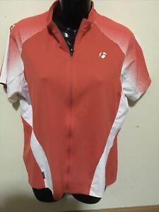 Bontrager XLarge Cycling Biking Race SS Jersey zipper 9552 Orange White Women's