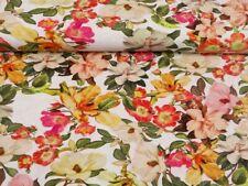 0,50 m Webstoff elastisch Blüten Blumen Rock Hose Viskose leicht Sommer P 922204