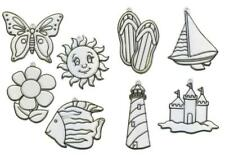 Major Brushes Plastic Window Decorations for Glass Painting Set of 8 Designs