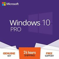 Instant Windows 10 Pro Key Professional Activation License Product Code 32&64Bit