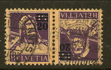 2 Number Swiss Stamps