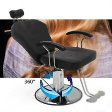Reclining Leather Barber Chair Shampoo Hairdressing Salon Furniture Equipment UK