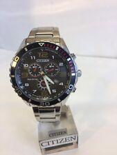 Men's Eco Citizen-drive cronografo tachimetro cinturino, GN-4W-S