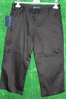 JRB Golf 97% Cotton Crop Trousers / Cut Offs 3/4 Length Black 10,12,14,16,18