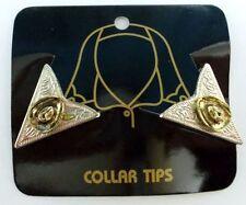 Western Country Collar Tips Kragenecken  Kragenspiegel Silber/Gold Cowboyhut