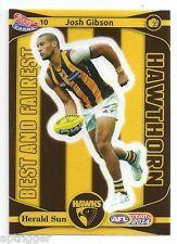 2014 Teamcoach Best & Fairest Sticker (10) Josh GIBSON Hawthorn