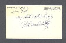Bill Van Breda Kolff signed Gov. Postcard 1922-2007
