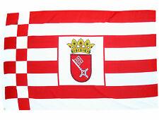 Fahne Bremen mit Wappen Querformaqt 90 x 150 cm Hiss Flagge Bundesland BRD