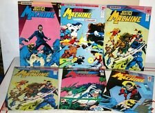 Lot of 6 - Justice Machine Comic Books by COMICO in Excellent Condition