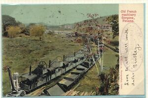 "U.S. PANAMA CANAL ZONE 1904 POST CARD ""PACIFIC STEAMSHIP CO. E.M.S. CALIF"" RARE"