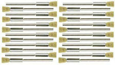 """24PC 1/4"""" Mounted Brass Wire End Rotary Brush Works With Dremel Foredom Tools"""