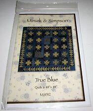 True Blue Pieced Star Quilt Pattern