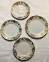 Lot of 4 Noritake Nippon 175 16034 Christmas Ball 1 Dinner Plate 3 Salad Dessert