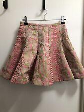 Zimmermann size 0 pink and green animal print skirt