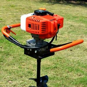 52CC 2-Stroke Gasoline Gas One Man Post Hole Digger Earth Auger Machine 2.2HP US