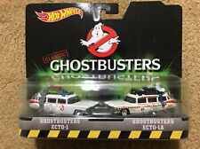HOT WHEELS Pop Culture GHOSTBUSTERS ECTO 1 & 1A Multi Car Set Real Riders