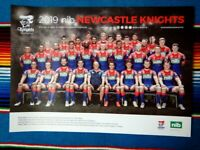 ✺New✺ 2019 NEWCASTLE KNIGHTS NRL Poster - 42cm x 29.5cm
