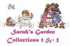 OFFER*  SARAH'S GARDEN COLLECTIONS 1&2 -MACHINE EMBROIDERY DESIGNS ON 2 CDS /USB