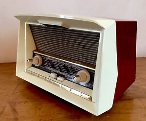 Ancien poste radio TSF PHILIPS RA248A Le Corbusier B2F72A,design vintage 50-60